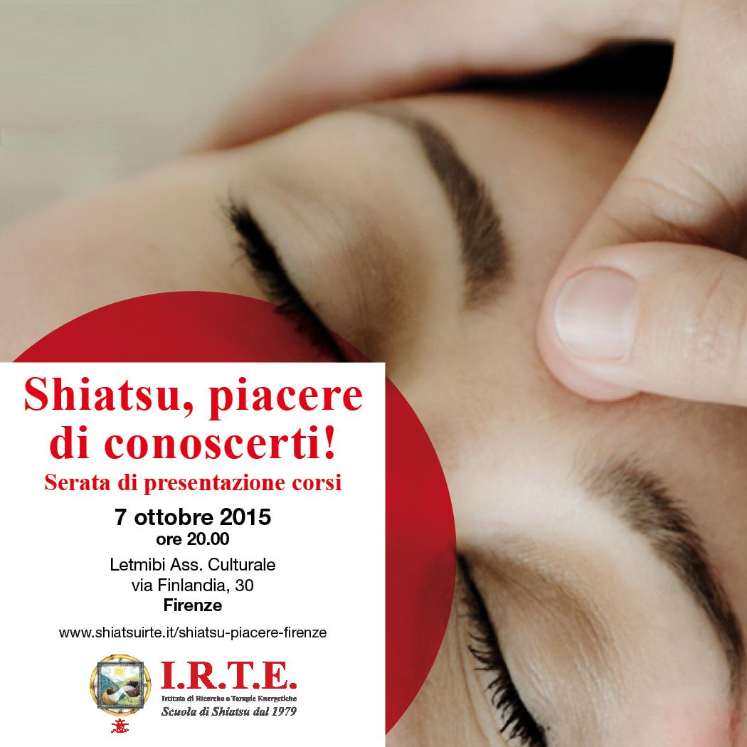 Shiatsu, piacere di conoscerti a Firenze