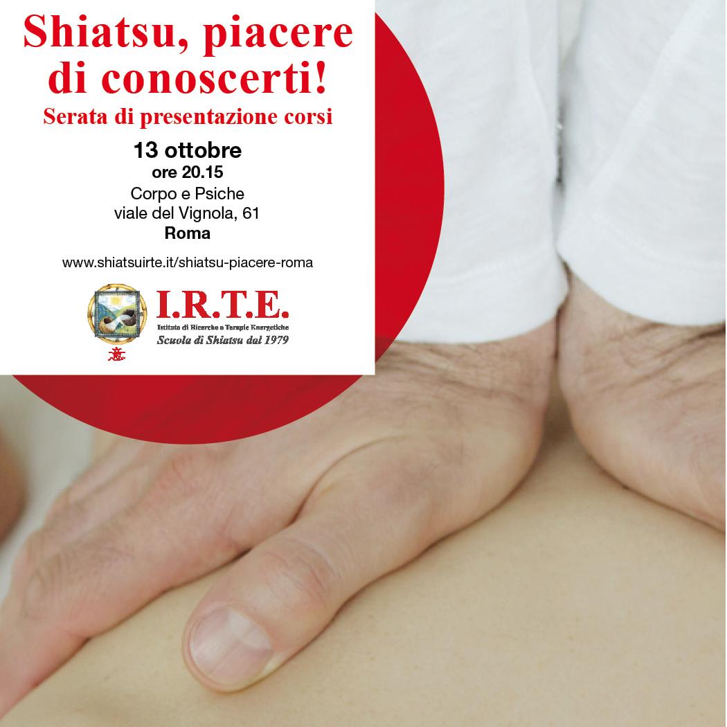 Shiatsu, piacere di conoscerti a Roma.