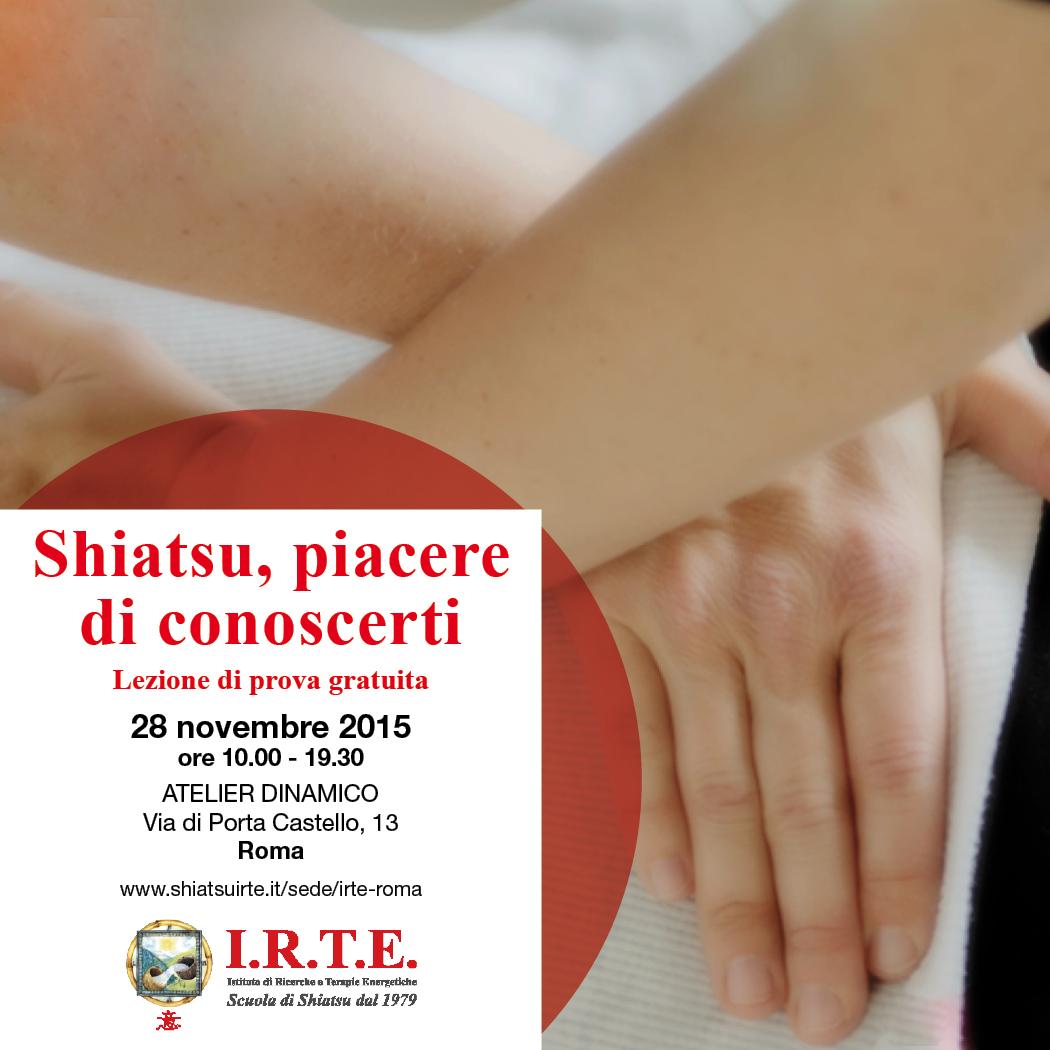 Shiatsu, piacere di conoscerti! Lezione gratuita a Roma.