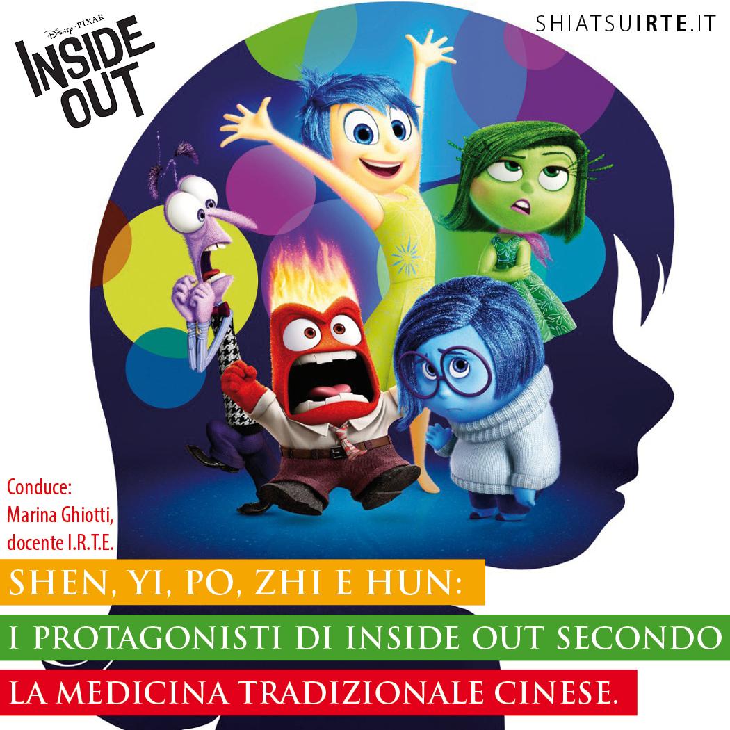 Shen, Yi, Po, Zhi e Hun: i protagonisti di Inside Out secondo la Medicina Tradizionale Cinese.