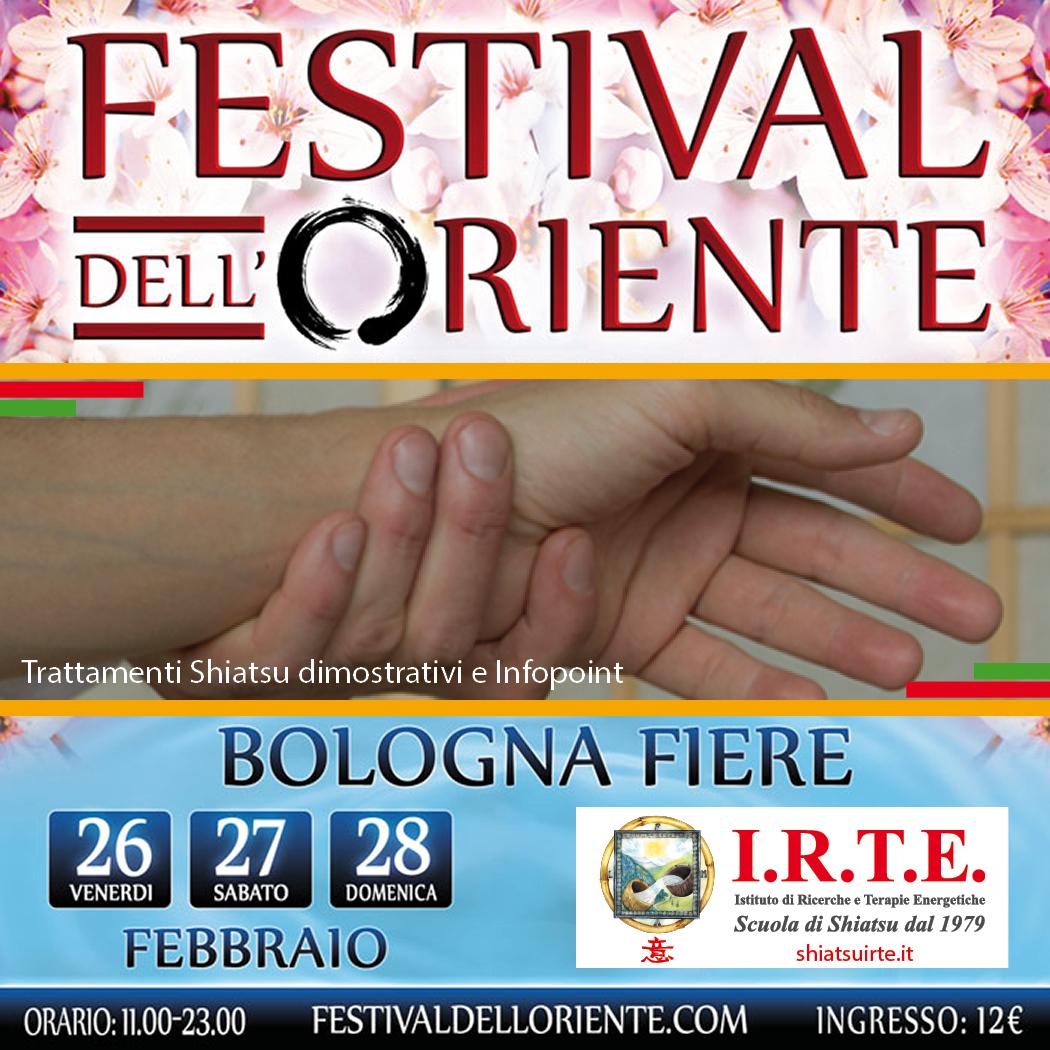 Shiatsu al Festival dell'Oriente di Bologna