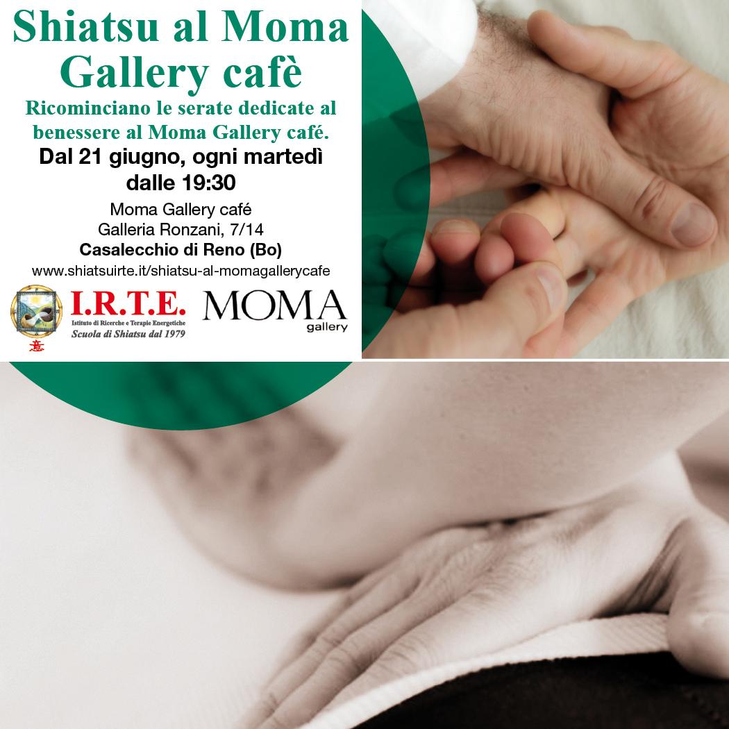 Shiatsu al Moma Gallery cafè