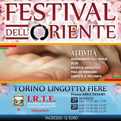 La scuola IRTE al Festival dell'Oriente di Torino 2017
