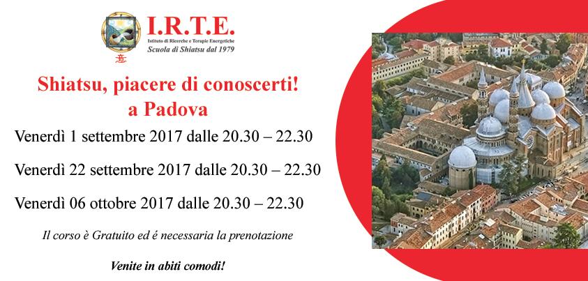 Lezione Shiatsu gratuita  settembre  Padova