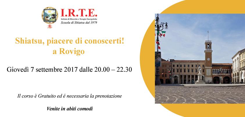 Lezioni gratuite di Shiatsu a Rovigo