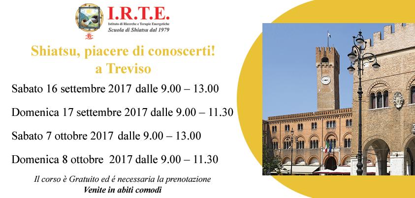 Lezione Shiatsu gratuita  settembre  Treviso