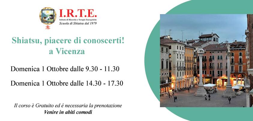 Lezioni gratuite di Shiatsu a Vicenza