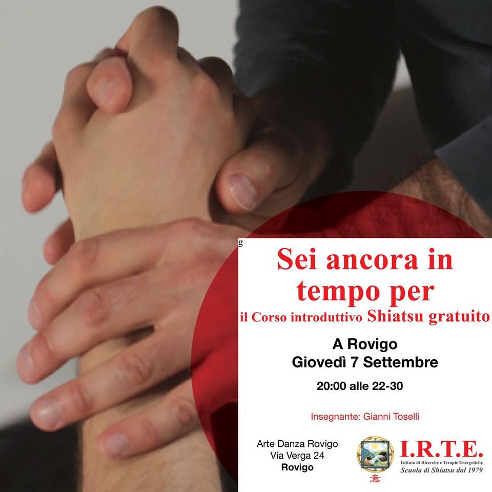 Lezione Shiatsu Gratuita a Rovigo - 7 settembre
