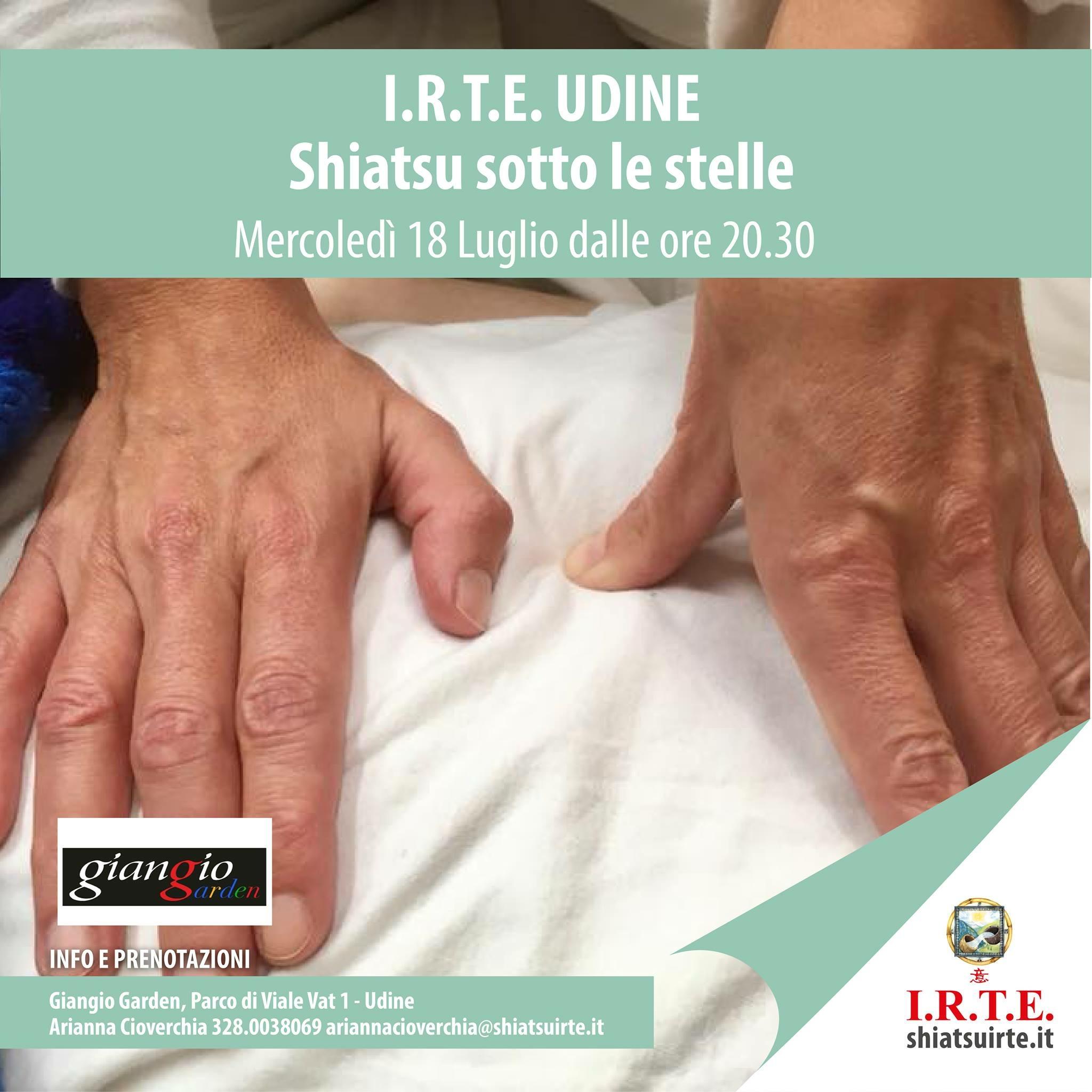 Shiatsu sotto le stelle a Udine: 18 luglio 2018