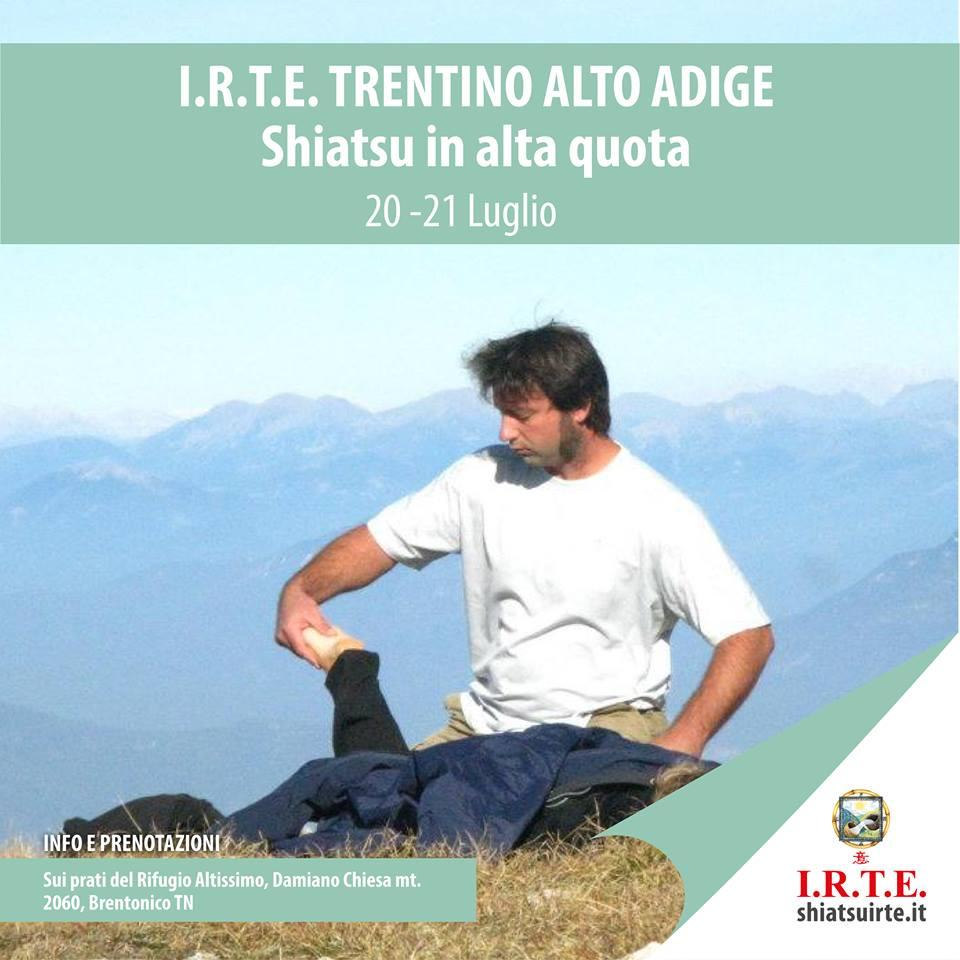 Scuola Shiatsu IRTE in alta quota Trentino Alto Adige