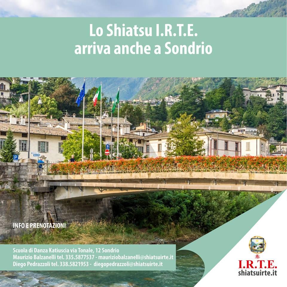 La Scuola Shiatsu IRTE arriva anche a Sondrio