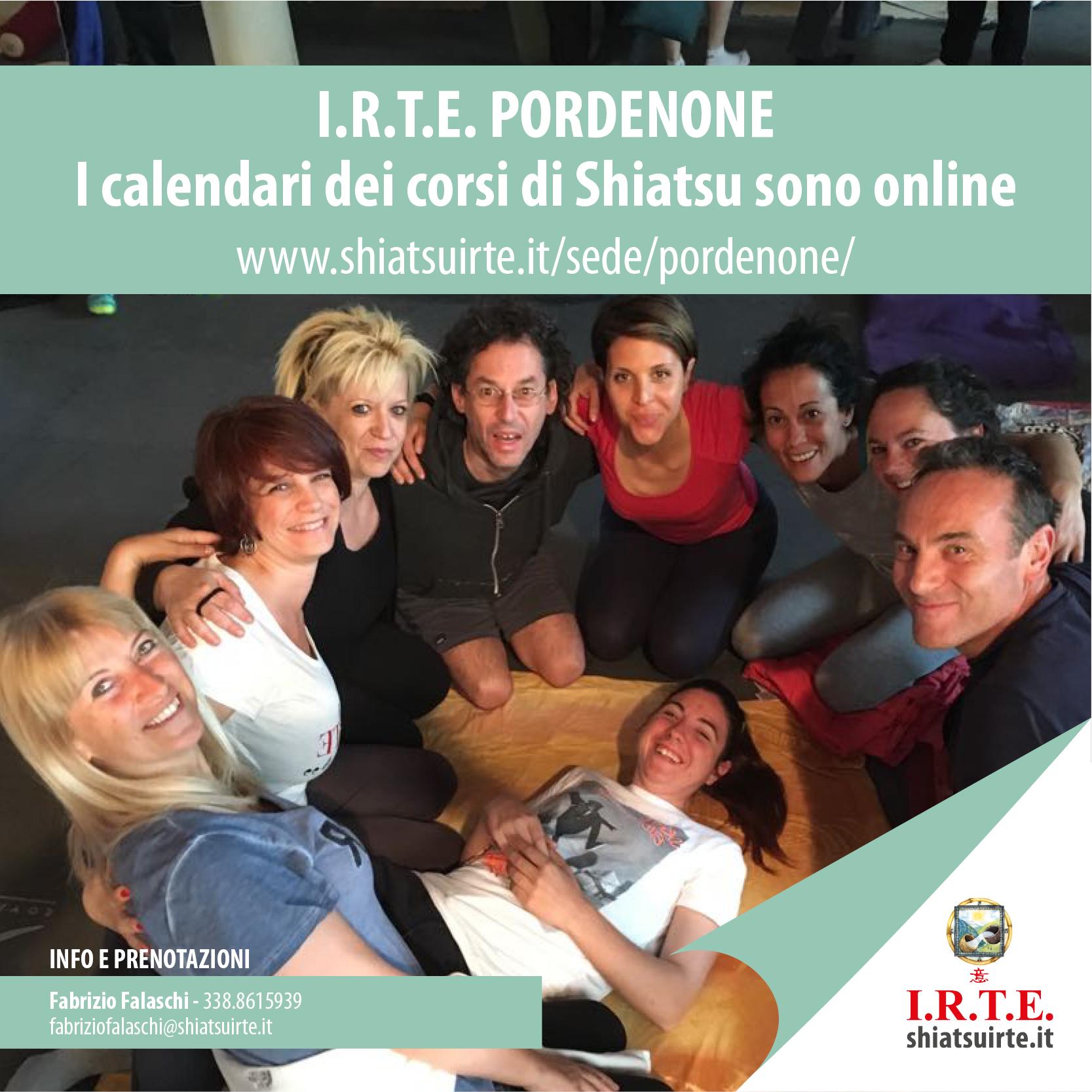 I calendari dei corsi Shiatsu I.R.T.E. di PORDENONE sono online!