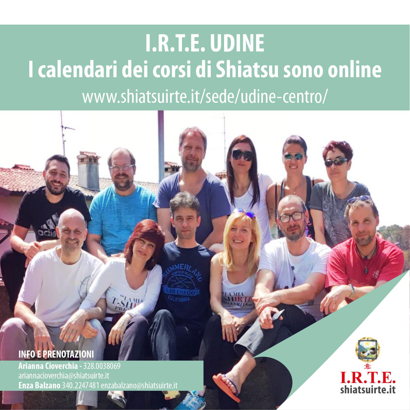 I calendari dei corsi Shiatsu I.R.T.E. di UDINE sono online!