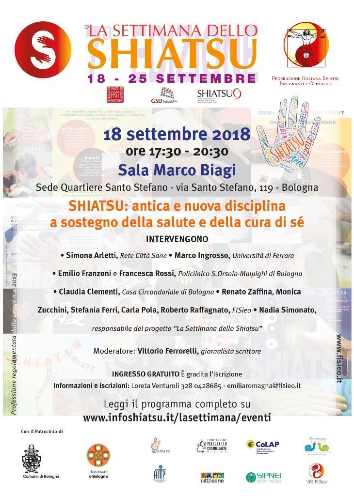 A Bologna si apre la settimana nazionale dello Shiatsu FISieo
