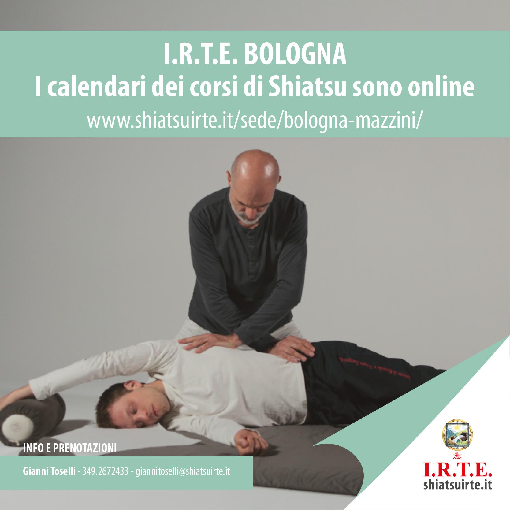 Corsi Shiatsu a Bologna, il calendario IRTE 2018-2019 è online