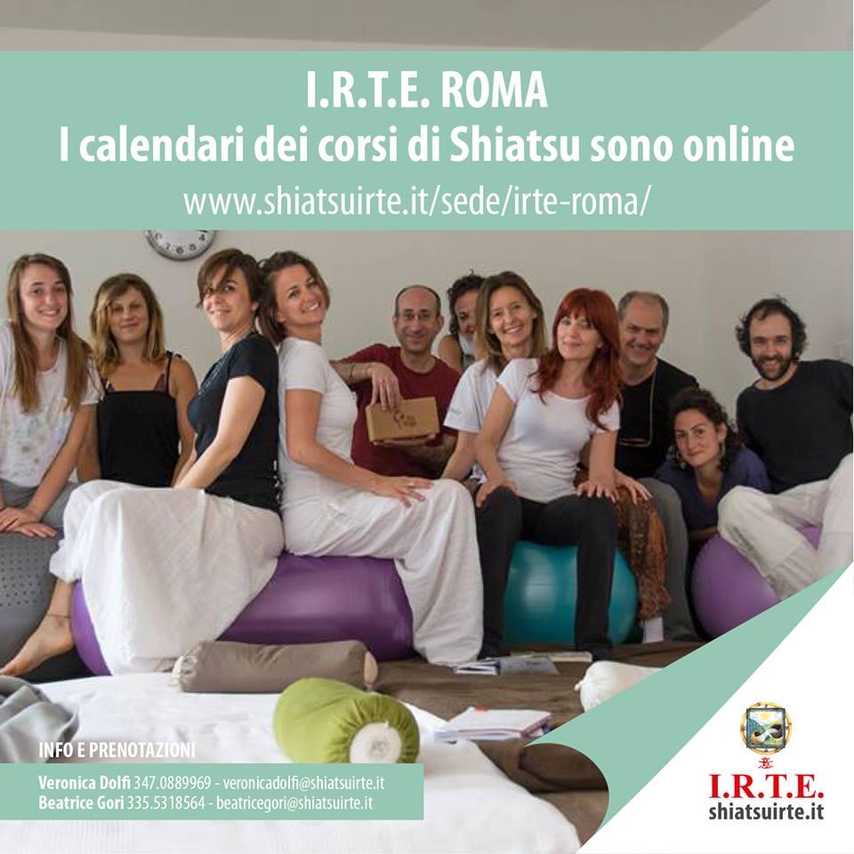 Corsi Shiatsu a Roma, il calendario IRTE è online