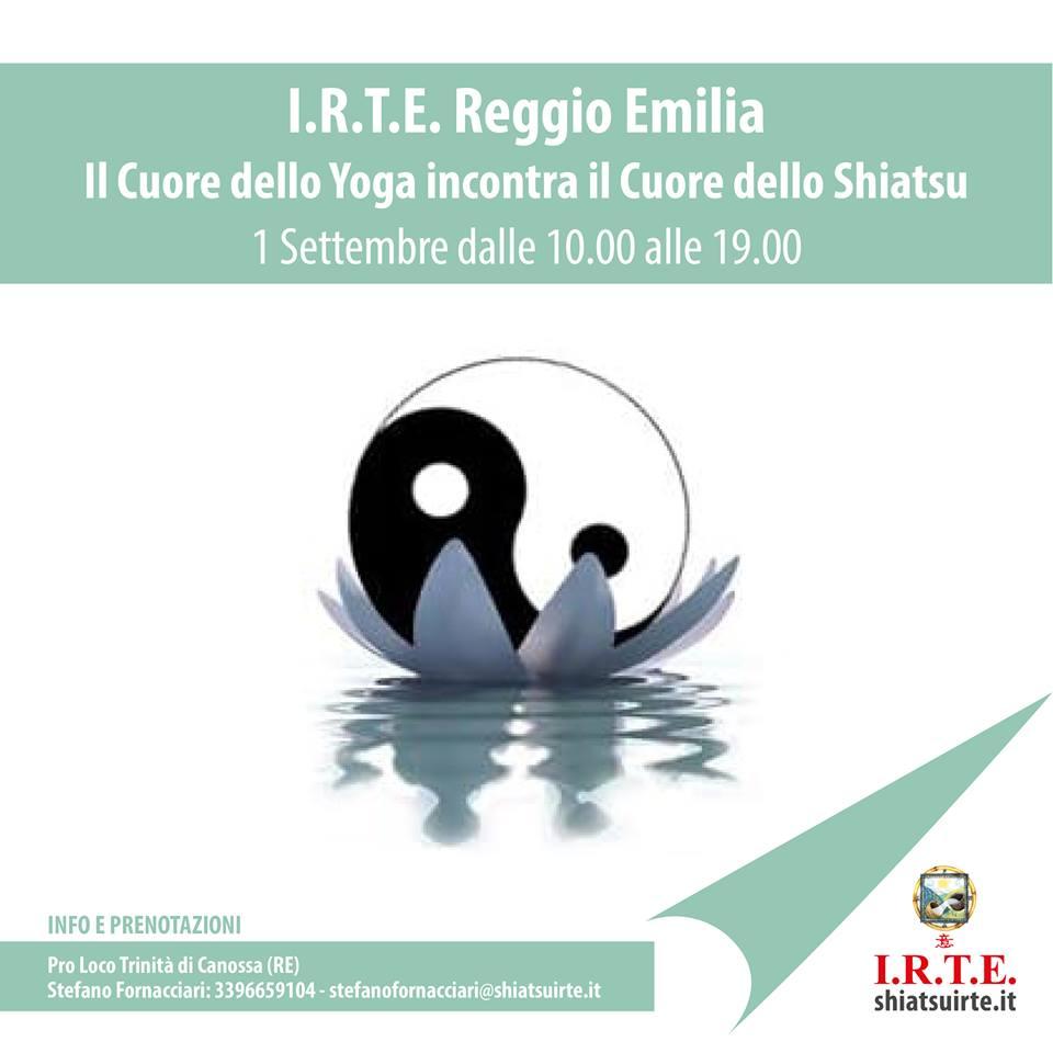Reggio Emilia, il Cuore dello Shiatsu incontra il Cuore dello Yoga