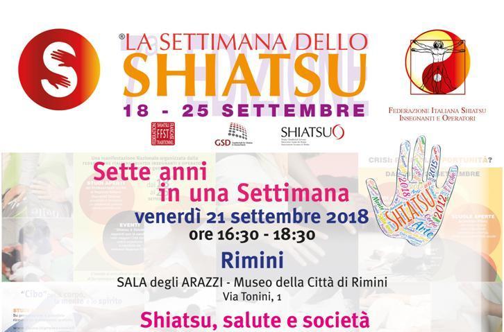La Settimana dello Shiatsu, conferenza a Rimini il 21/09/2018