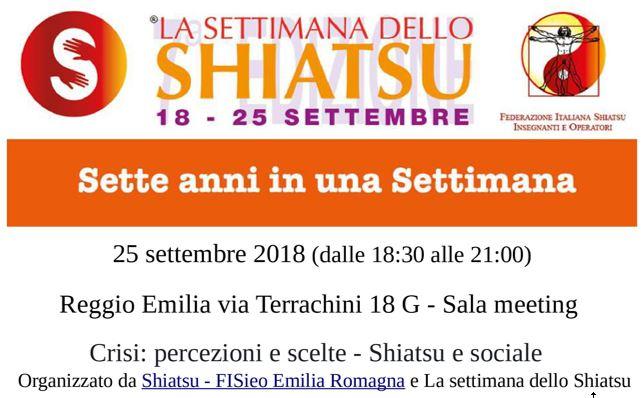 La Settimana dello Shiatsu 2018, conferenza a Reggio Emilia