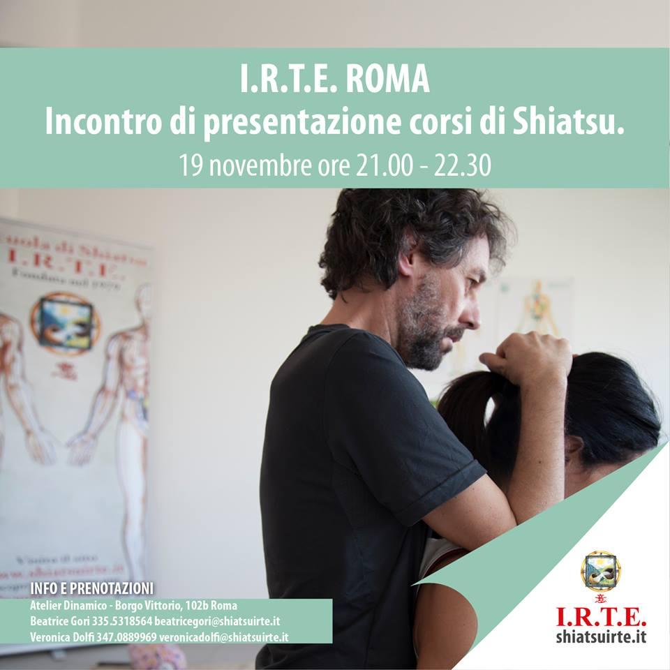 Corsi Shiatsu a Roma, serata di presentazione