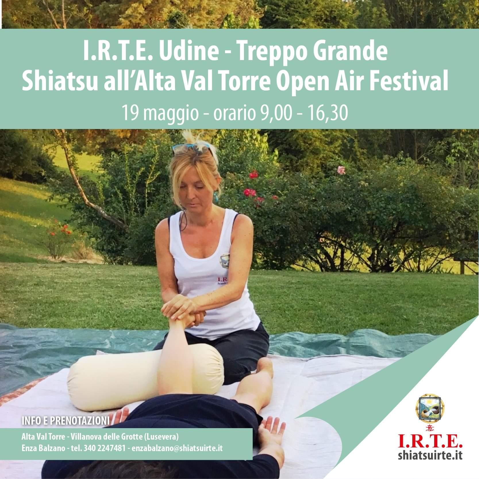 19 Maggio 2019  - Lo Shiatsu I.R.T.E. all'Alta Val Torre Open Air Festival