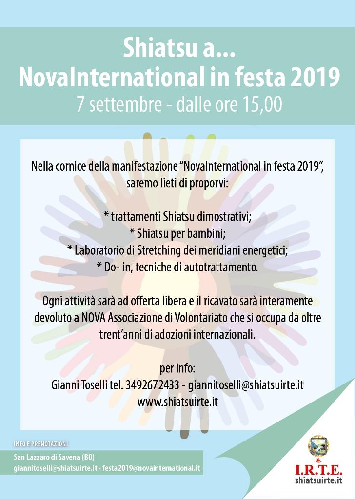 Shiatsu IRTE per Associazione NOVA