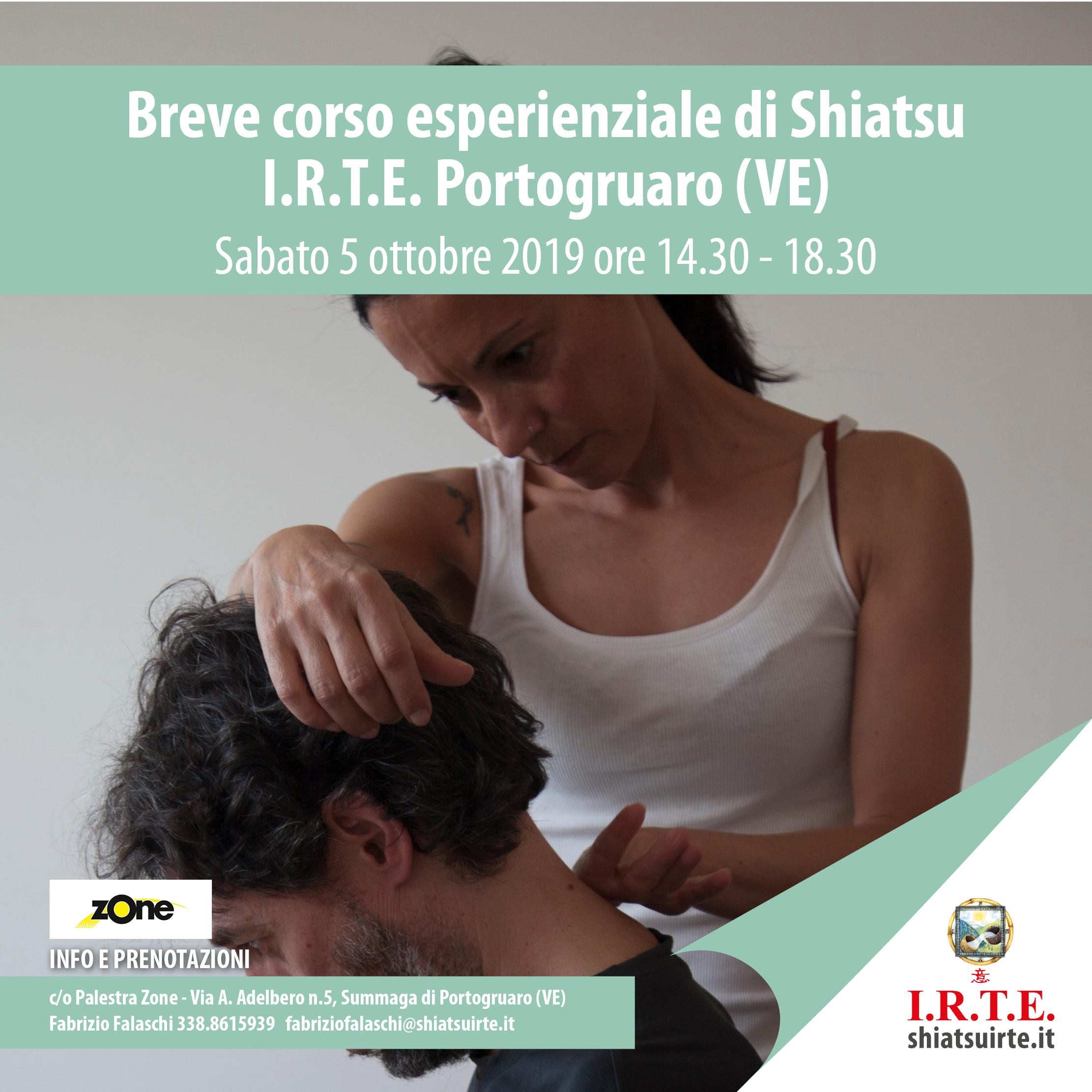 Portogruaro (VE) - 5 ottobre 2019: breve corso esperienziale di Shiatsu