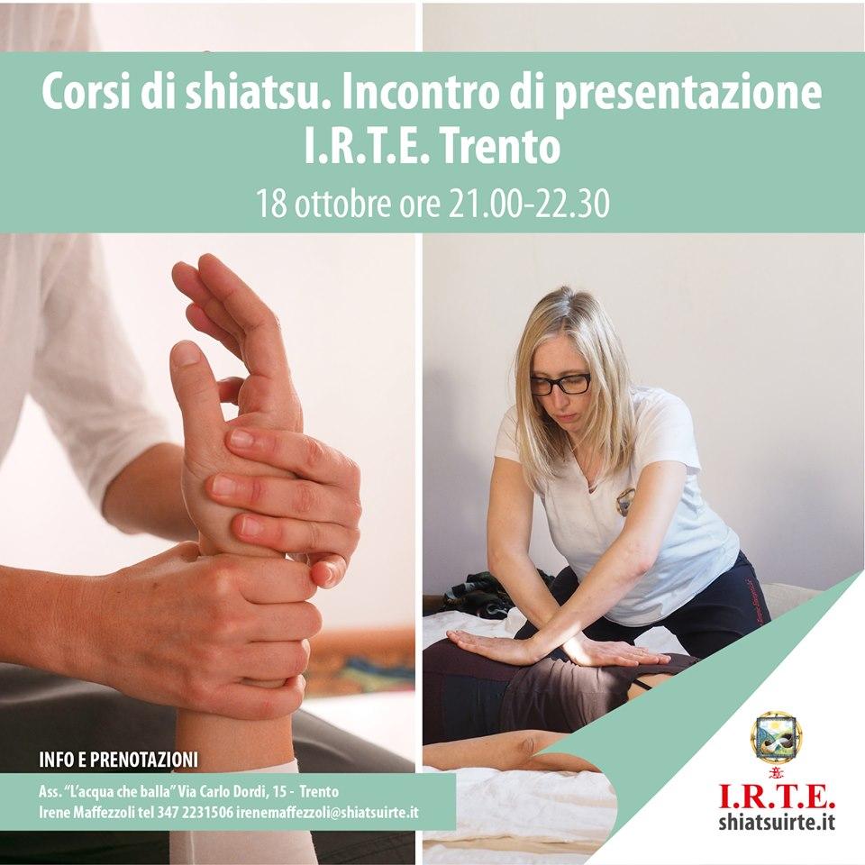 Trento 18 ottobre 2019 Incontro libero di presentazione