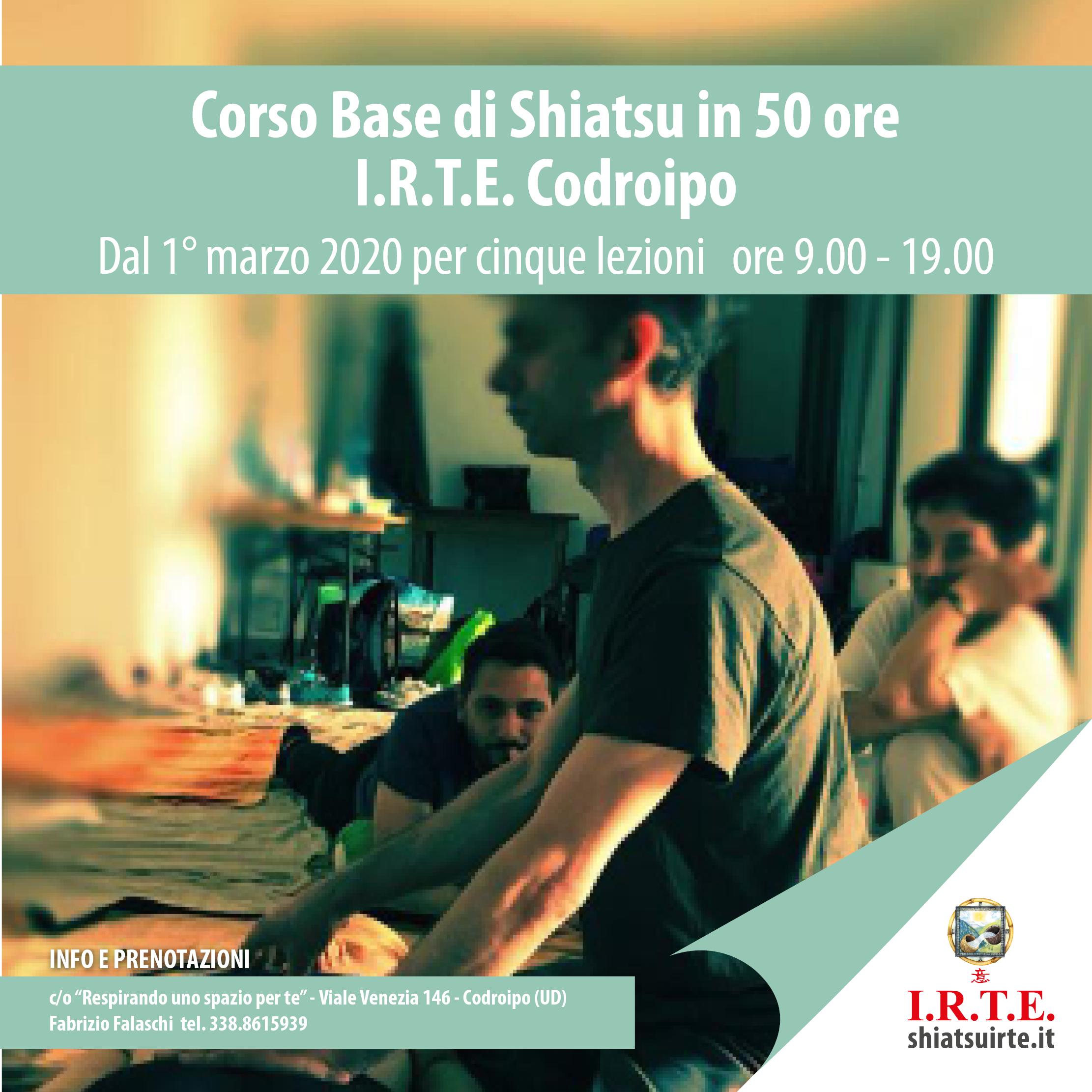 Codroipo (UD) - 1° marzo 2020: Corso Base di Shiatsu in partenza