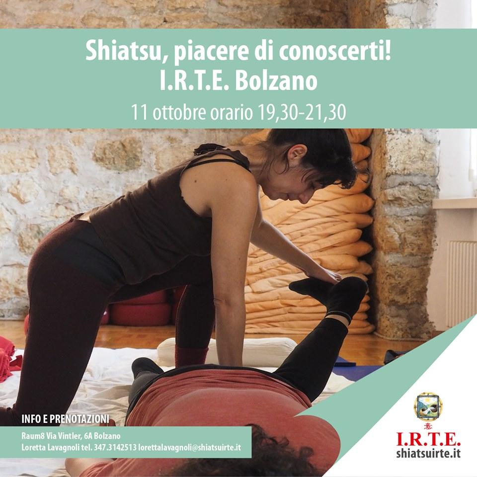 Bolzano 11 ottobre 2019     Shiatsu piacere di conoscerti