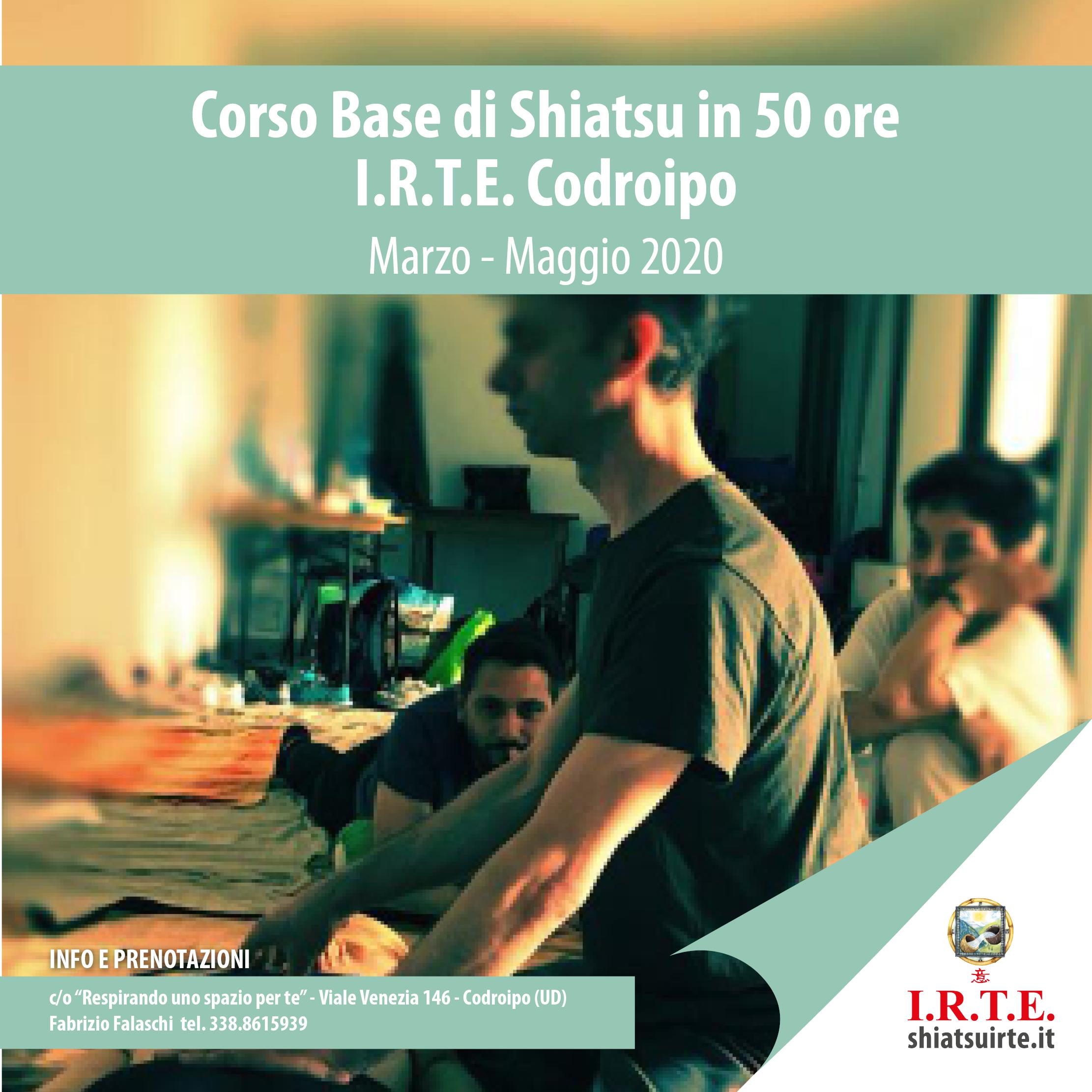 Codroipo (UD) - Marzo 2020: Corso Base di Shiatsu in partenza