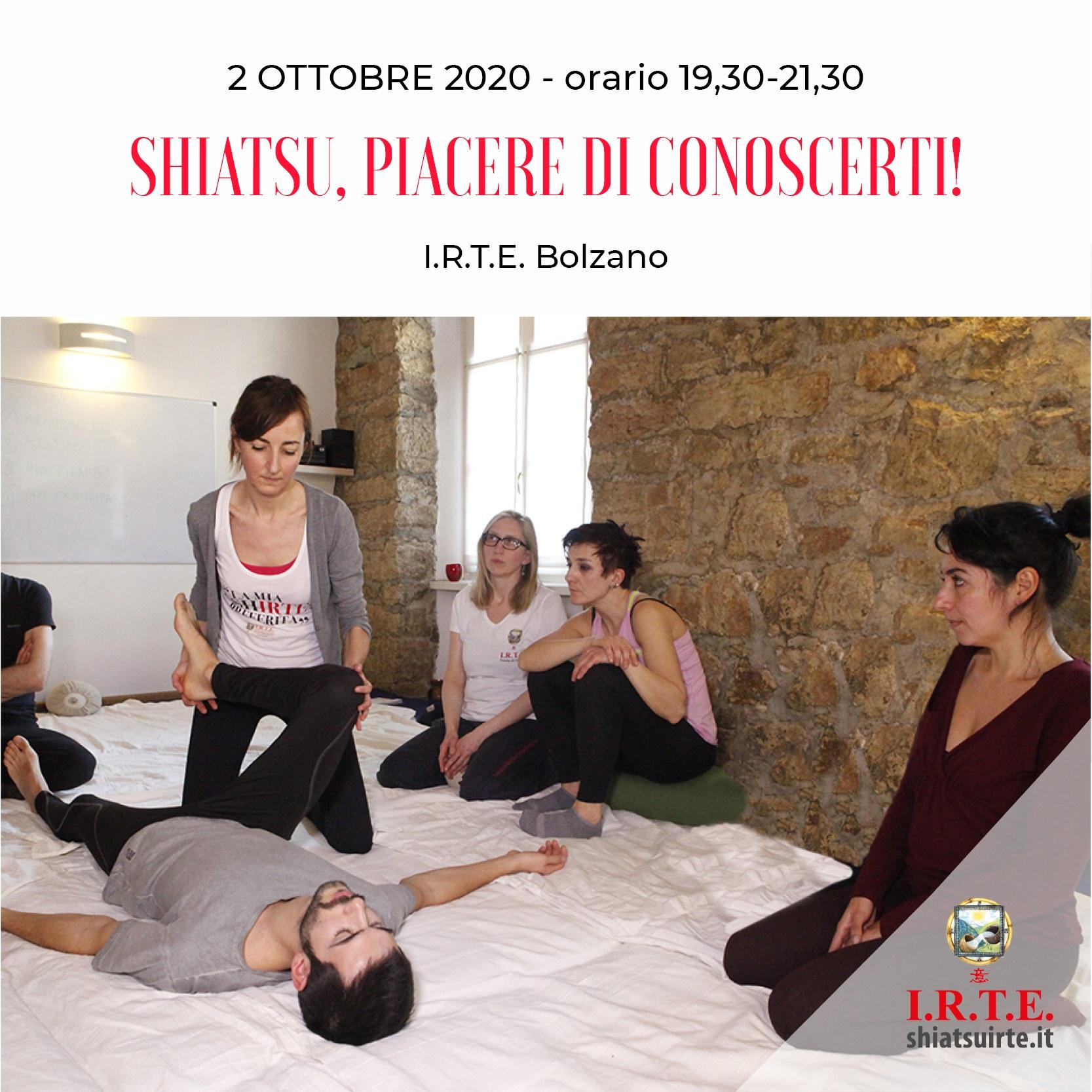 Bolzano, 02 Ottobre 2020 Piacere di conoscerti