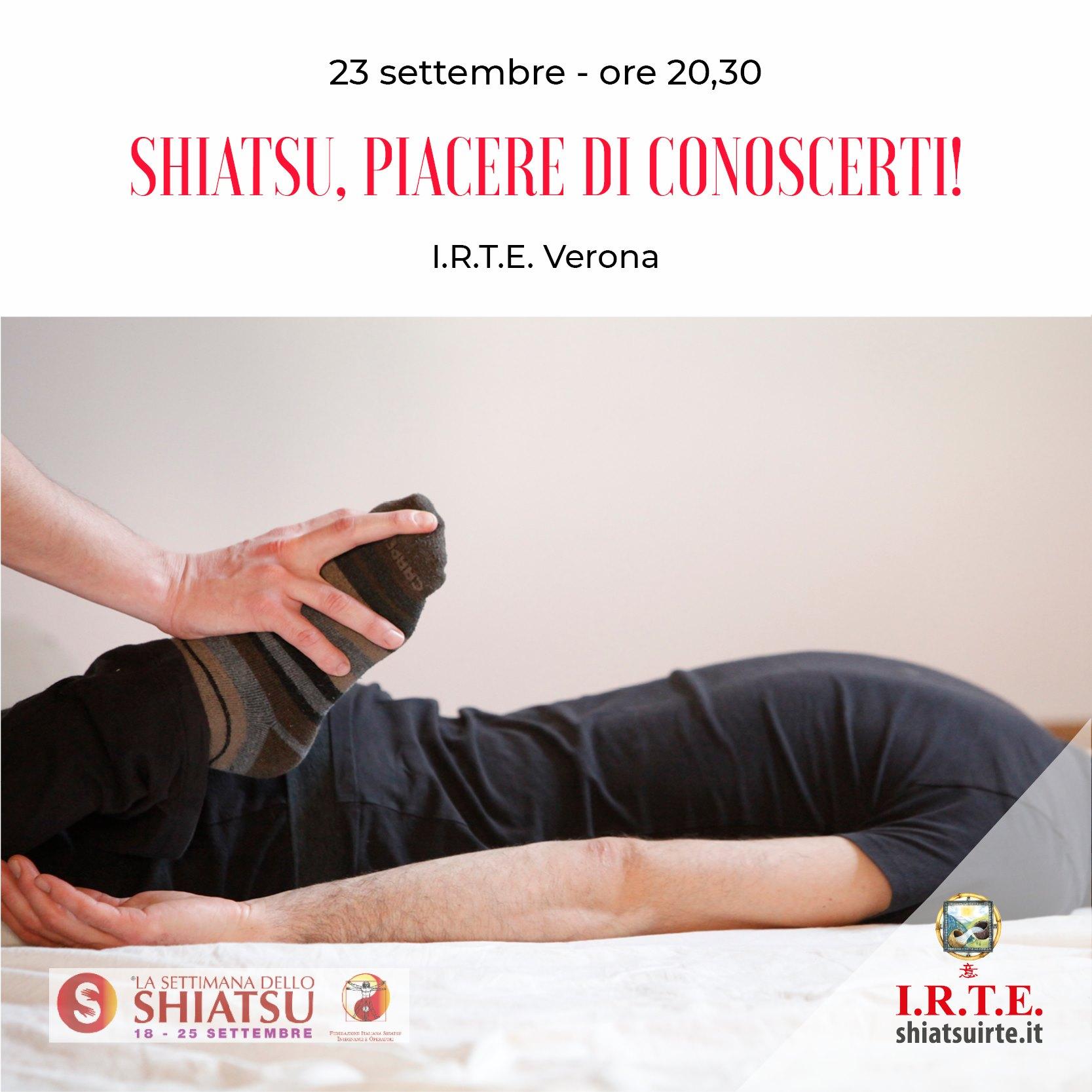 Verona 23 Settembre 2020    La settimana dello shiatsu