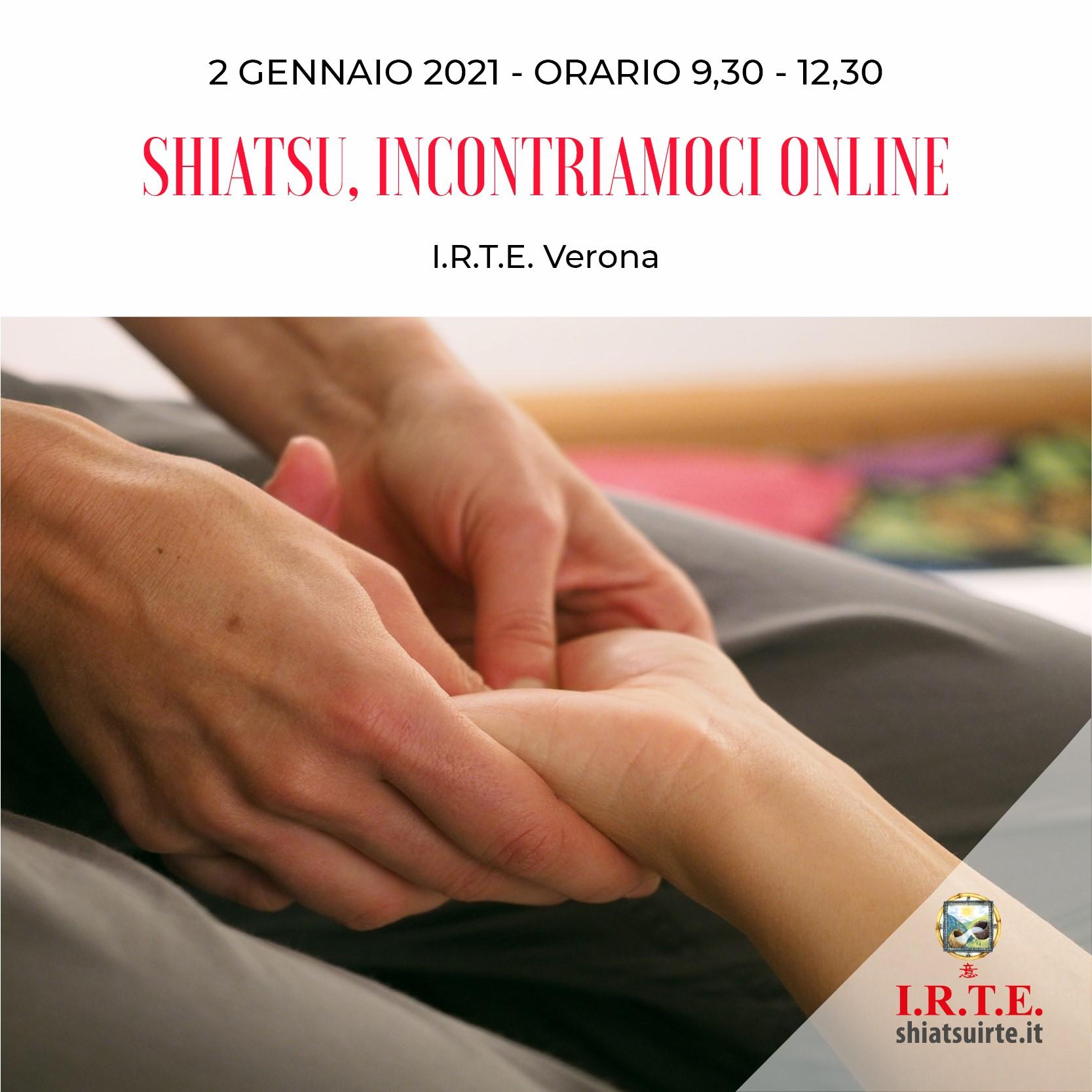 Verona, 02 Gennaio 2021 Incontriamoci online!